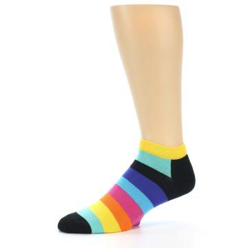 Image of Multi-Color Stripes Men's Ankle Socks (side-2-10)