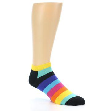 Image of Multi-Color Stripes Men's Ankle Socks (side-1-27)