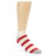 Image of Red White Stripe Men's Ankle Socks (side-1-front-01)