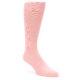 Image of Blossom Pink Solid Color Men's Dress Socks (side-1-front-01)