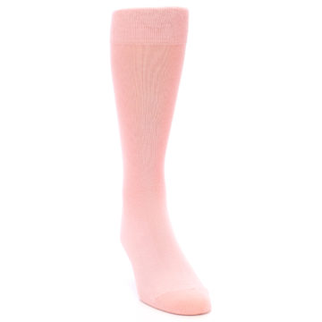 Image of Blossom Pink Solid Color Men's Dress Socks (side-1-front-03)