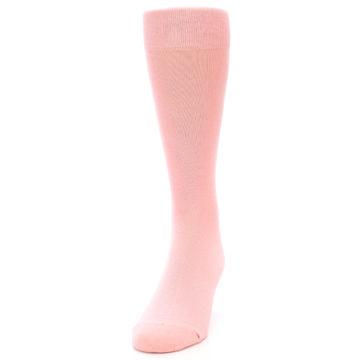 Image of Blossom Pink Solid Color Men's Dress Socks (side-2-front-06)