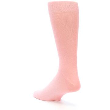 Image of Blossom Pink Solid Color Men's Dress Socks (side-2-back-15)
