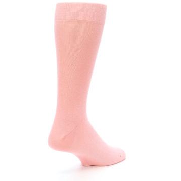 Image of Blossom Pink Solid Color Men's Dress Socks (side-1-back-22)