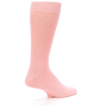 Image of Blossom Pink Solid Color Men's Dress Socks (side-1-23)