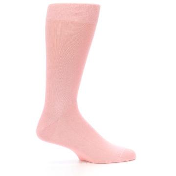 Image of Blossom Pink Solid Color Men's Dress Socks (side-1-25)