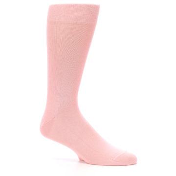 Image of Blossom Pink Solid Color Men's Dress Socks (side-1-26)