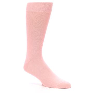 Image of Blossom Pink Solid Color Men's Dress Socks (side-1-27)