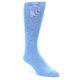 Image of Cornflower Blue Solid Color Men's Dress Socks (side-1-front-01)