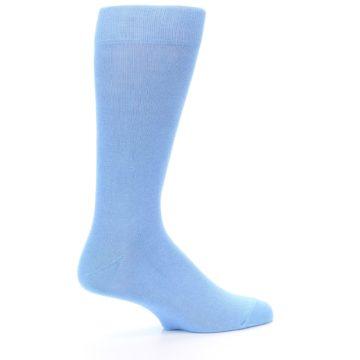 Image of Cornflower Blue Solid Color Men's Dress Socks (side-1-24)