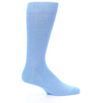 Image of Cornflower Blue Solid Color Men's Dress Socks (side-1-25)