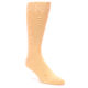 Image of Peach Solid Color Men's Dress Socks (side-1-front-01)