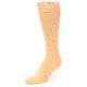 Image of Peach Solid Color Men's Dress Socks (side-2-front-08)