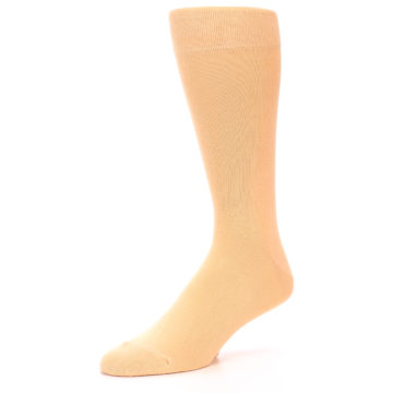 Image of Peach Solid Color Men's Dress Socks (side-2-09)