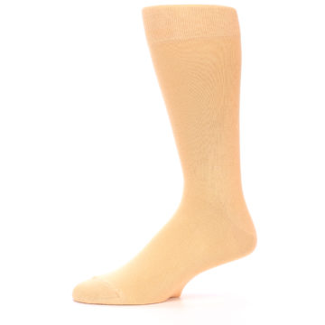 Image of Peach Solid Color Men's Dress Socks (side-2-11)