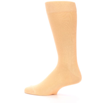 Image of Peach Solid Color Men's Dress Socks (side-2-13)