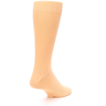 Image of Peach Solid Color Men's Dress Socks (side-1-back-22)