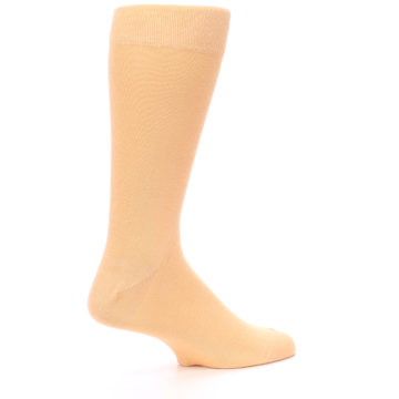 Image of Peach Solid Color Men's Dress Socks (side-1-24)