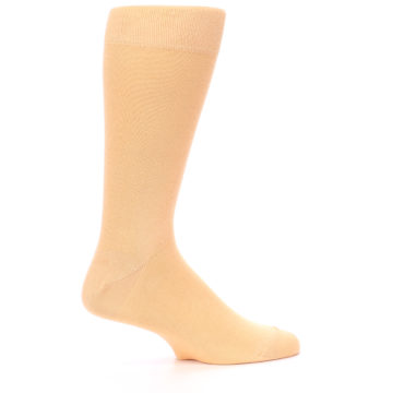 Image of Peach Solid Color Men's Dress Socks (side-1-25)