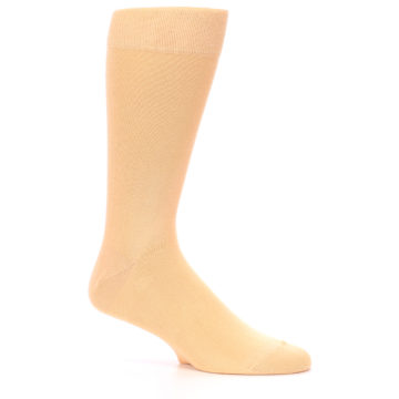 Image of Peach Solid Color Men's Dress Socks (side-1-26)