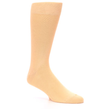 Image of Peach Solid Color Men's Dress Socks (side-1-27)