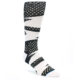 Image of Black White Polka Dot & Stripe Men's Casual Socks (side-1-front-01)