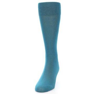 Image of Teal Solid Color Men's Dress Sock (side-2-front-06)