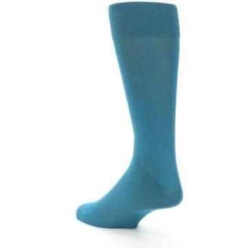 Image of Teal Solid Color Men's Dress Sock (side-2-back-15)