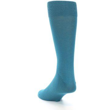 Image of Teal Solid Color Men's Dress Sock (side-2-back-16)