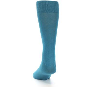 Image of Teal Solid Color Men's Dress Sock (back-17)