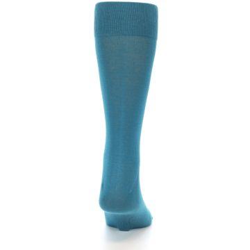 Image of Teal Solid Color Men's Dress Sock (back-19)