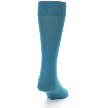 Image of Teal Solid Color Men's Dress Sock (side-1-back-20)