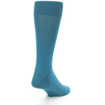Image of Teal Solid Color Men's Dress Sock (side-1-back-21)