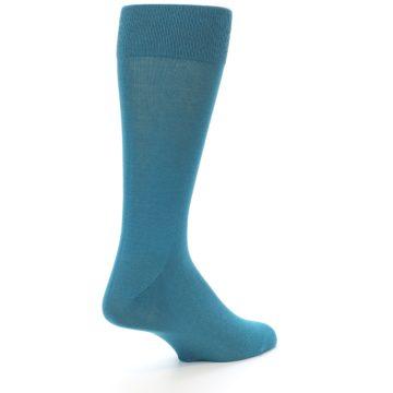 Image of Teal Solid Color Men's Dress Sock (side-1-back-22)