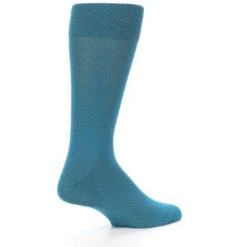 Image of Teal Solid Color Men's Dress Sock (side-1-23)