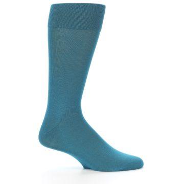 Image of Teal Solid Color Men's Dress Sock (side-1-25)