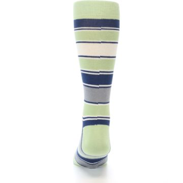 Image of Pistachio Green Stripe Men's Dress Socks (back-17)