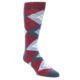 Image of Apple Red Blue Argyle Men's Dress Socks (side-1-front-01)
