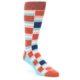Image of Mandarin Orange Stacked Men's Dress Socks (side-1-front-01)