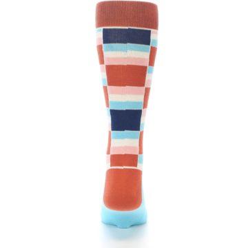 Image of Mandarin Orange Stacked Men's Dress Socks (back-18)