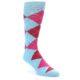 Image of Light Blue Red Pink Argyle Men's Dress Socks (side-1-front-01)