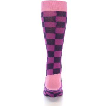 Image of Purple Checkered Men's Dress Socks (back-18)