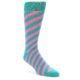 Image of Jade Green Pink Angle Stripe Men's Dress Socks (side-1-front-01)