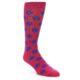 Image of Fuchsia Royal Blue Polka Dot Men's Dress Socks (side-1-front-01)