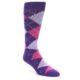Image of Purples Pink Argyle Men's Dress Socks (side-1-front-01)