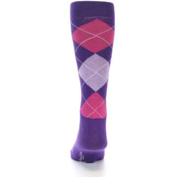 Image of Purples Pink Argyle Men's Dress Socks (back-18)