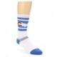 Image of Blue White Denver Colorado City Men's Athletic Crew Socks (side-1-front-01)