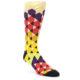 Image of Multi-Color Triangles Men's Dress Socks (side-1-front-01)