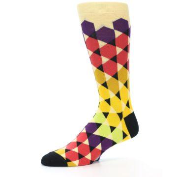 Image of Multi-Color Triangles Men's Dress Socks (side-2-10)