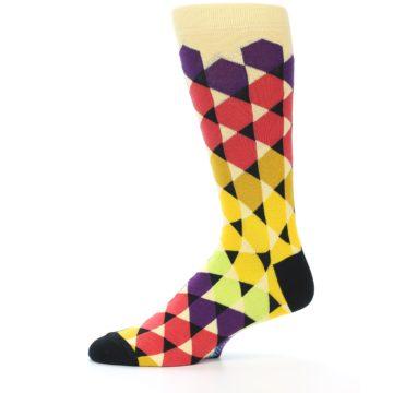 Image of Multi-Color Triangles Men's Dress Socks (side-2-11)